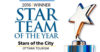 Stay at one of the best Ottawa Hotels. 2016 Star Team of The Year