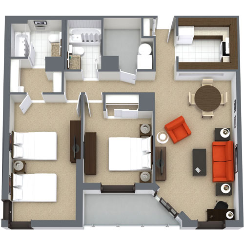 Premiere Two-Bedroom Family Suite